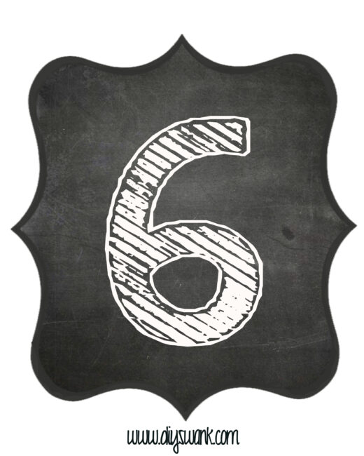 Printable_Chalkboard_ Number_6