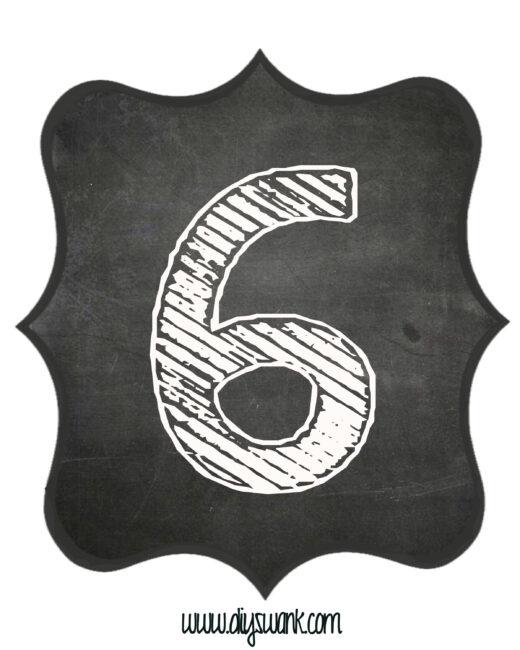 Printable_Chalkboard_ Number_6