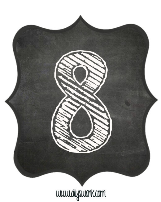 Printable_Chalkboard_ Number_8