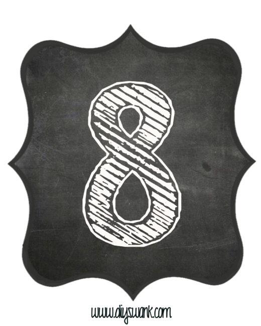 Printable_Chalkboard_ Number_8