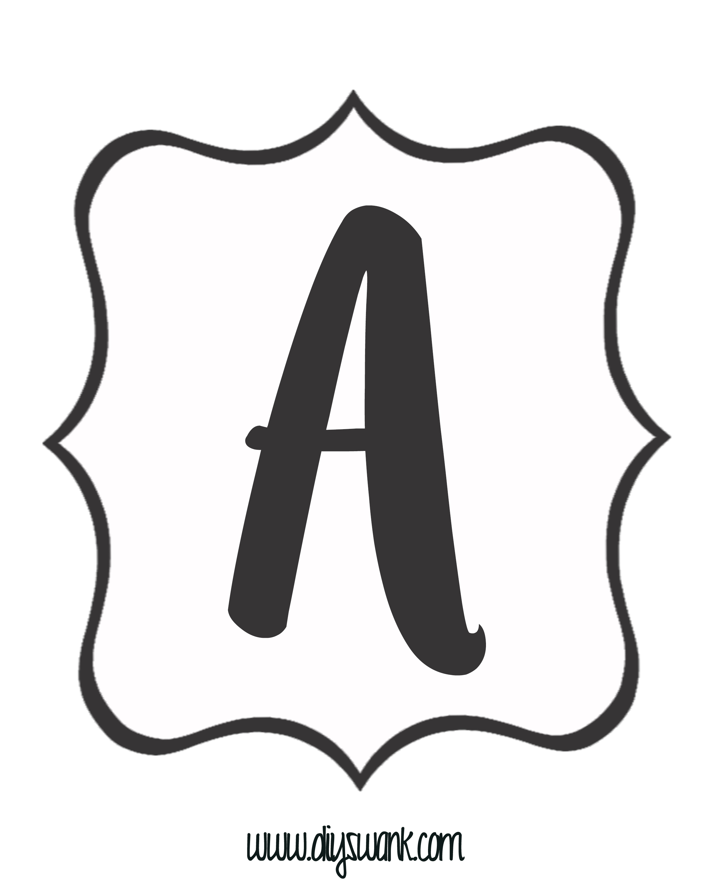 White and Black Letter_A — DIY SWANK