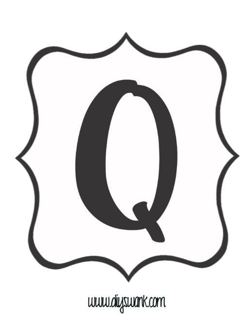 White and Black Letter_Q