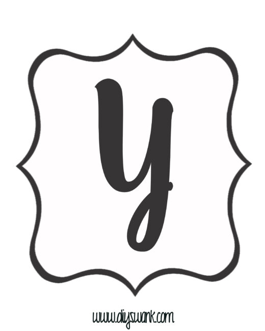 White and Black Letter_Y