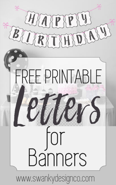 Free Printable Black And White Banner Letters | Diy Swank