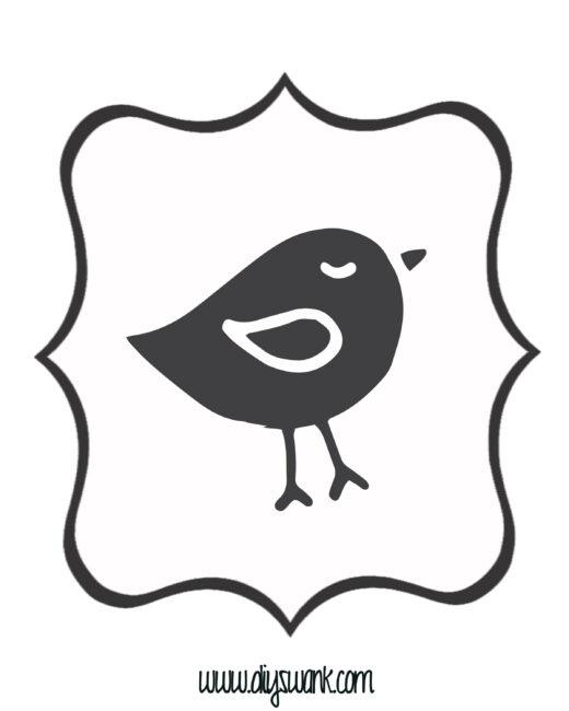 White and Black Bird Banner