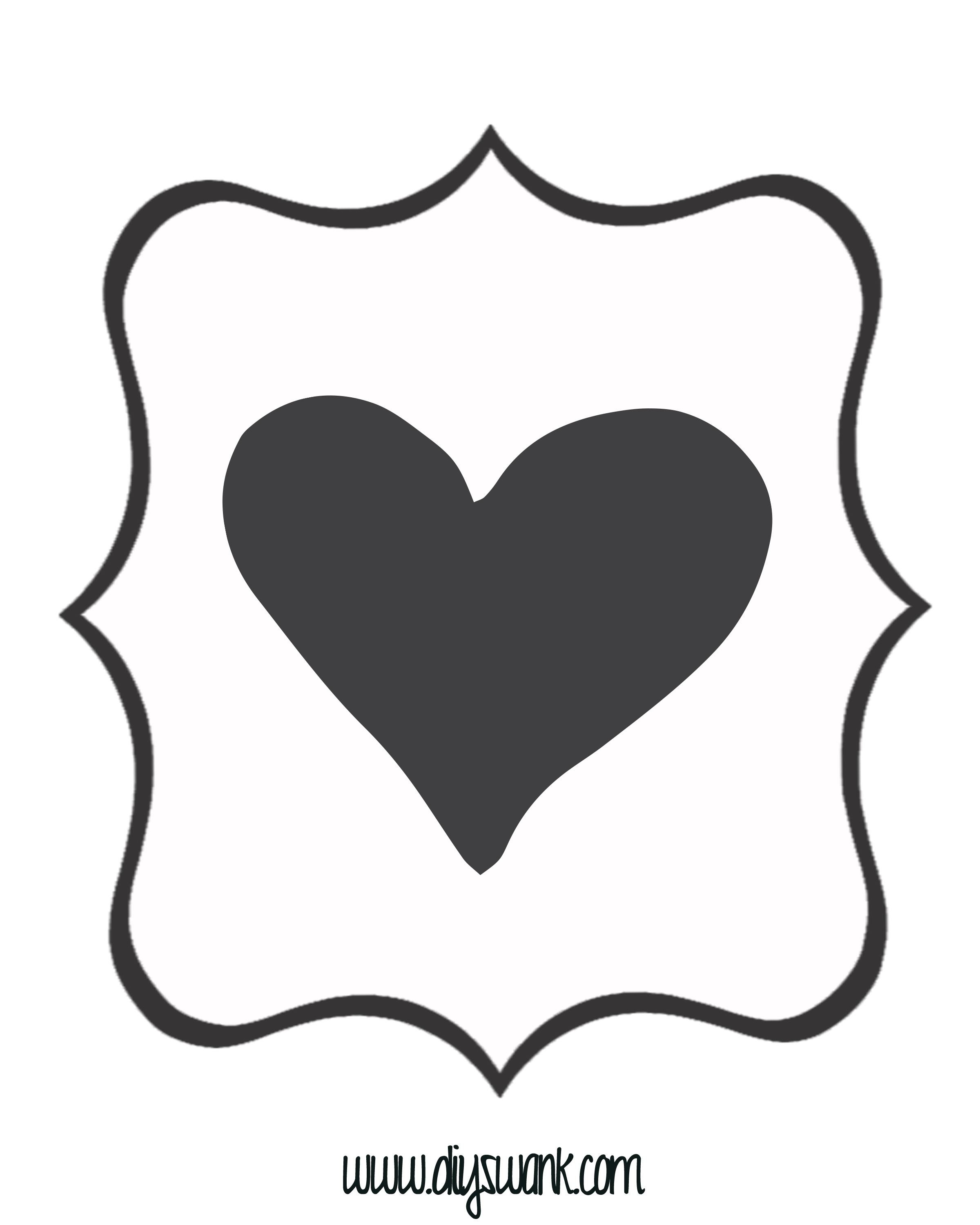 White and Black Heart Banner — DIY SWANK