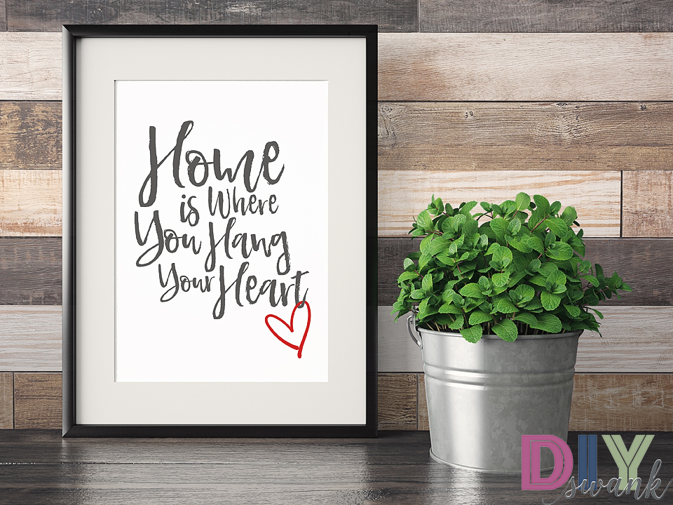 home is where you hang your heart free printable