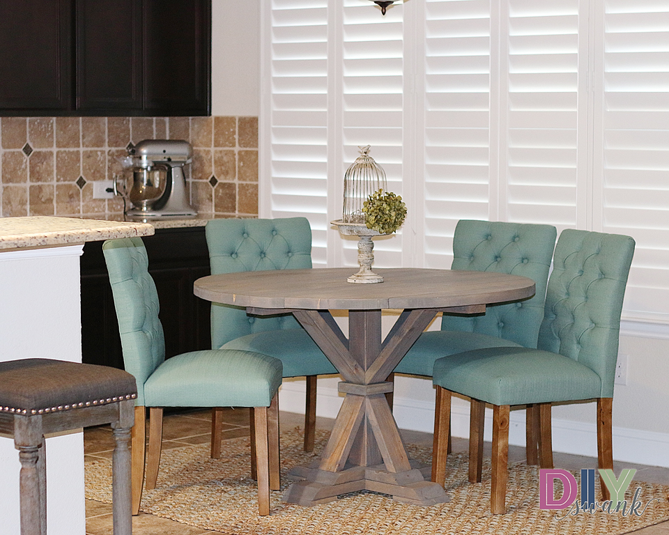 diy round farmhouse table diy swank