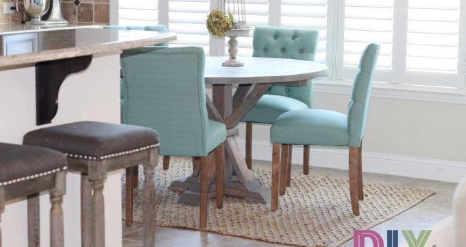 DIY Round Farmhouse Table