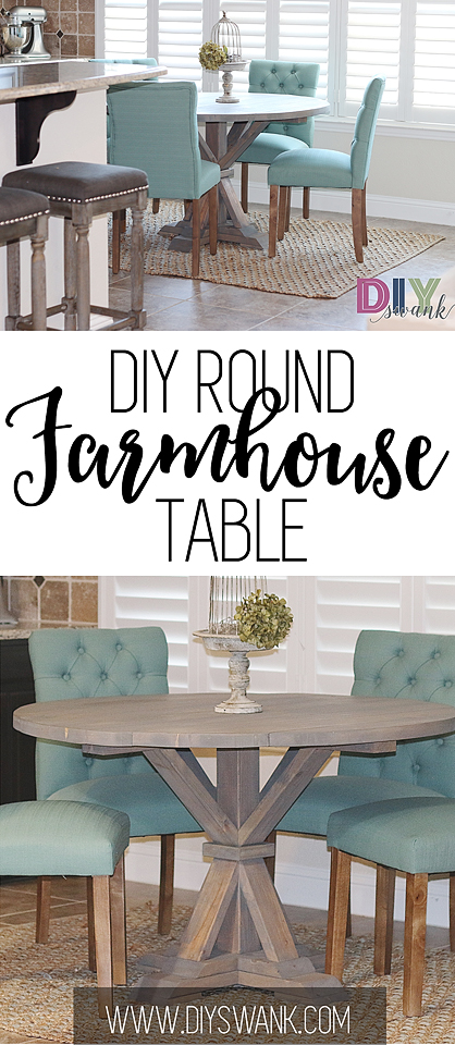 DIY ROUND FARMHOUSE TABLE