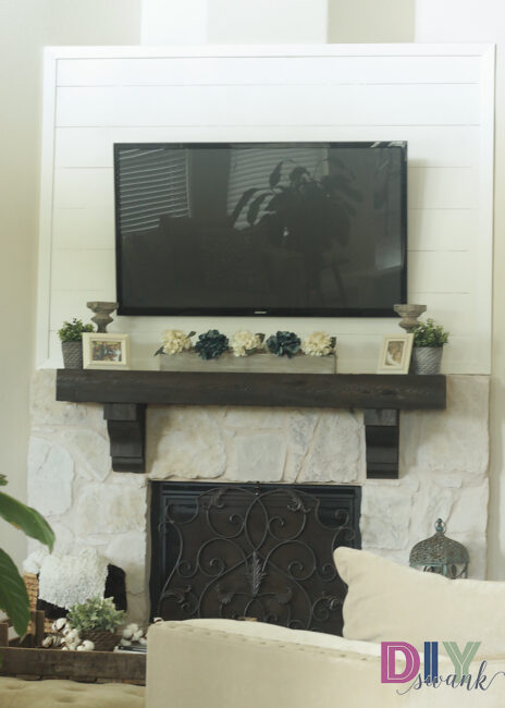 DIY Faux Shiplap Fireplace Tutorial