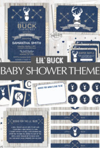 Rustic Deer Baby Shower Theme | Free Banner
