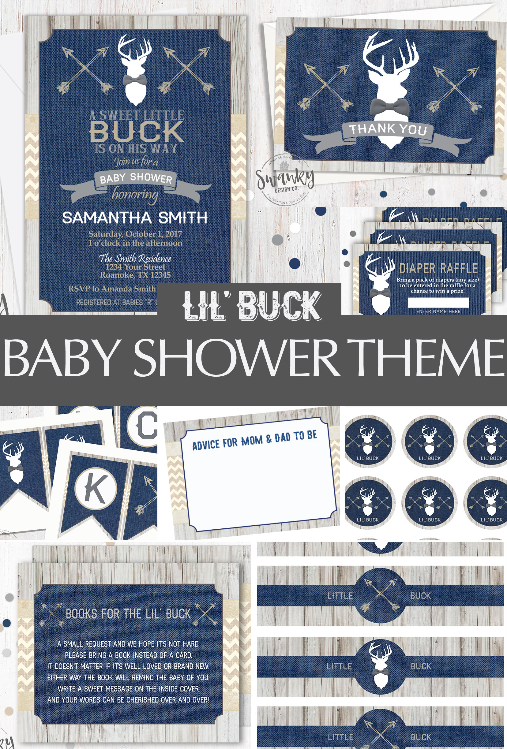 Little Buck Baby Shower Theme