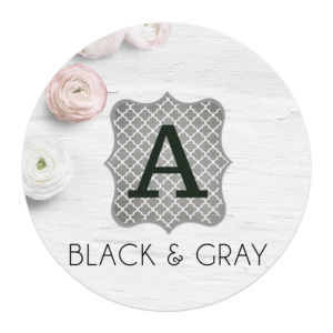 black and gray banner letters