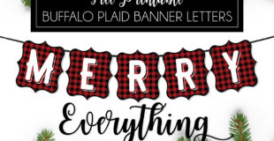 Buffalo Plaid Free Printable Banner Letters