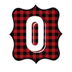 Buffalo Plaid Number 0