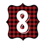 Buffalo Plaid Number 8