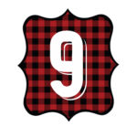 Buffalo Plaid Number 9