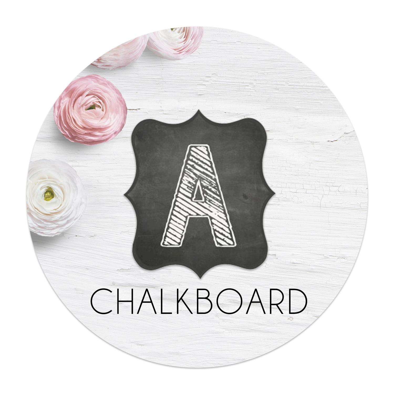 Chalkboard Banner Letters Swanky Design Company