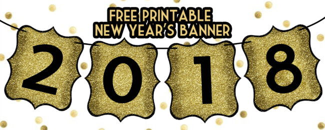 Gorgeous image throughout happy new years banner printable