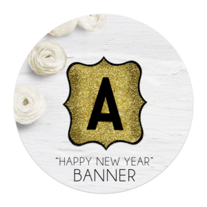 happy new year banner letters