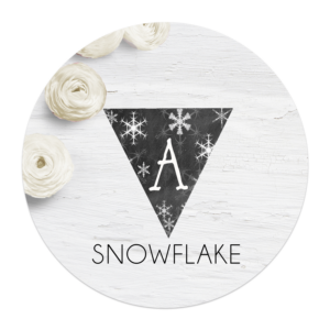 Snowflake-Banner-Letters