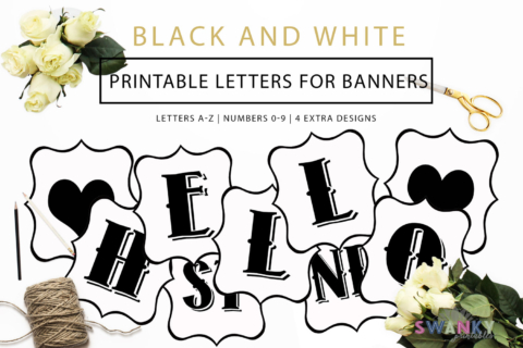 image about Printable Letters and Numbers named Absolutely free Printable Letters For Banners Do-it-yourself SWANK