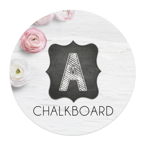 It's just an image of Printable Chalkboard Letters inside handwritten
